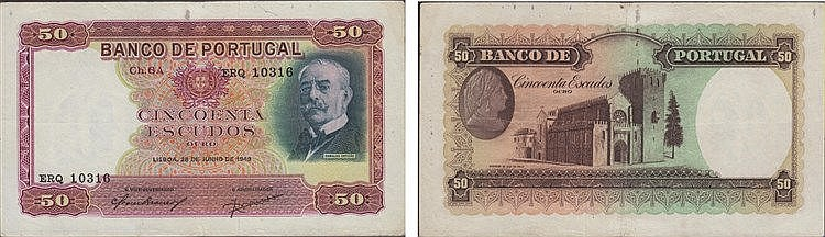 Paper money - 50$00 ch. 6A 1949