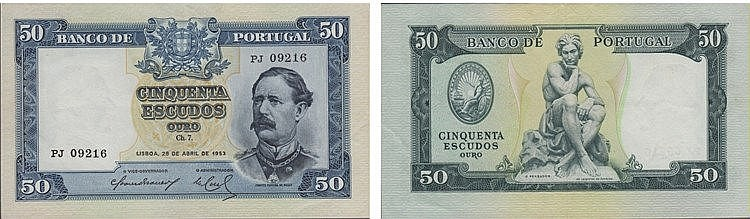 Paper Money - Portugal 50$00 ch. 7 1953