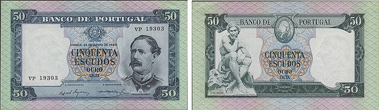 Paper Money - Portugal 50$00 ch. 7A 1960