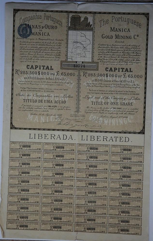 Título de Acção - 4500$000 1899