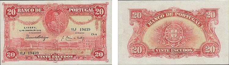 Paper Money - Portugal 20$00 ch. 4 1925