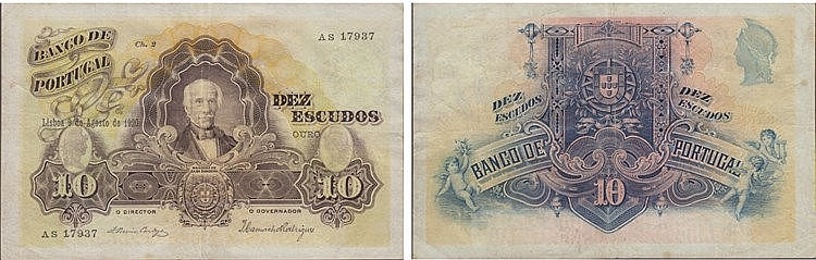 Paper Money - Portugal 10$00 ch. 2 1920
