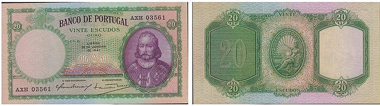 Paper Money - Portugal - 20$00 ch. 6 1941