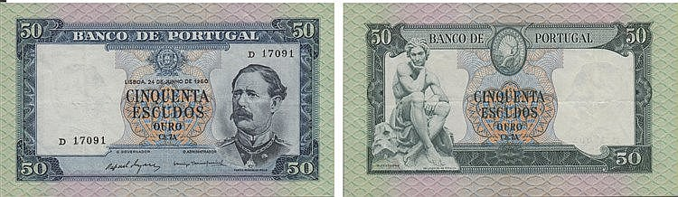Paper Money - Portugal - 50$00 ch. 7A 1960