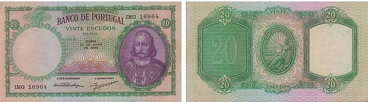 Paper Money - Portugal - 20$00 ch. 6 1948