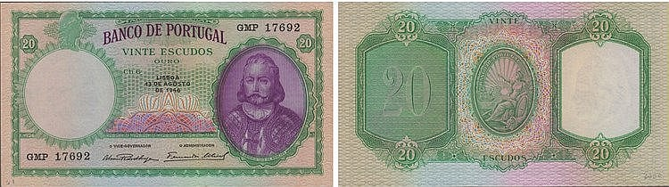 Paper Money - Portugal - 20$00 ch. 6 1946