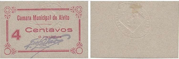 Cédula - Alvito 4 Centavos N/D