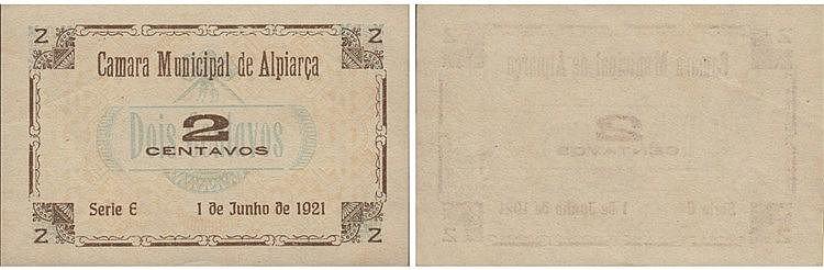Cédula - Alpiarça 2 Centavos 1921