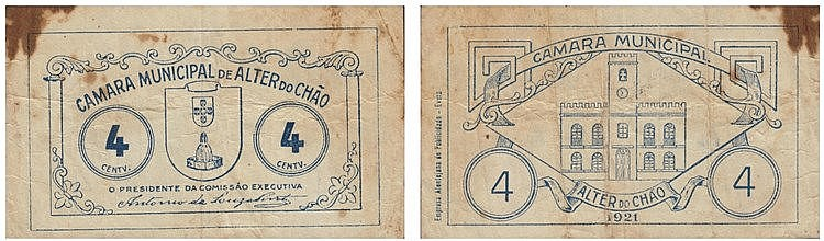 Cédula - Alter do Chão 4 Centavos 1921