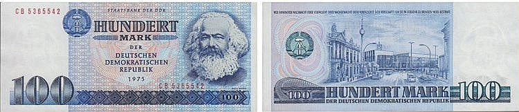 Paper Money - Germany 100 Mark 1975