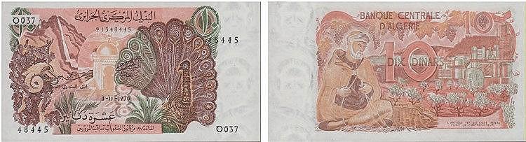 Paper Money - Algeria 10 Dinars 1970