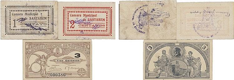 Cédula - Santarém 3 expl. 1, 2, 3 Centavos N/D