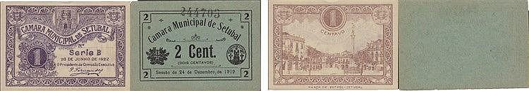 Cédula - Setubal 2 expl. 1, 2 Centavos 1919-1922