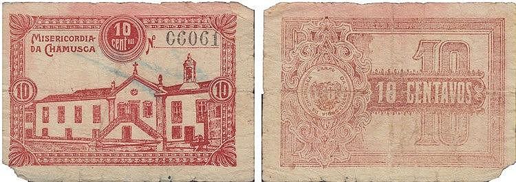 Cédula - Chamusca 10 Centavos N/D