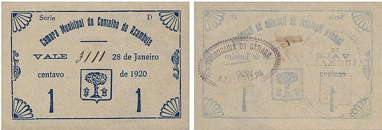 Cédula - Azambuja 1 Centavo 1920