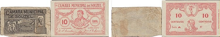 Cédula - Souzel 2 expl. 1, 10 Centavos N/D