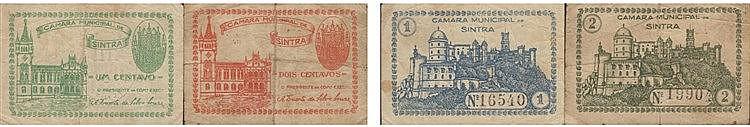 Cédula - Sintra 2 expl. 1, 2 Centavos N/D