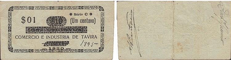 Cédula - Tavira 1/10 Centavo (s) 1920