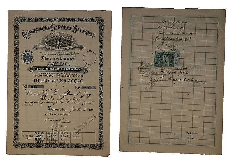 Título de Acção - 90$00 1920