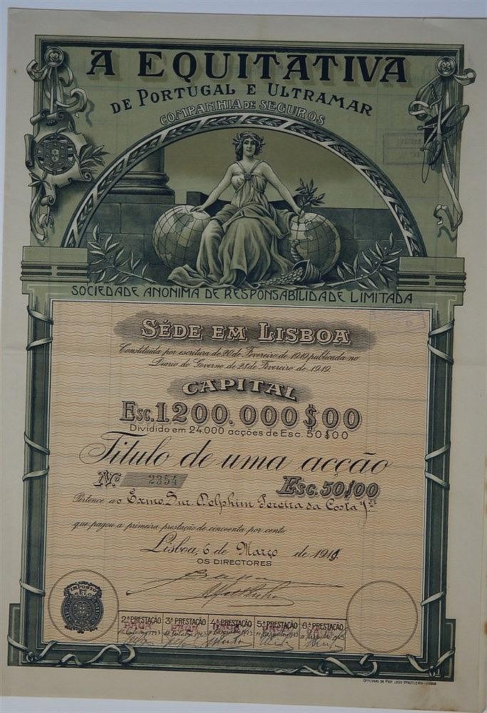 Título de Acção - 50$00 1919