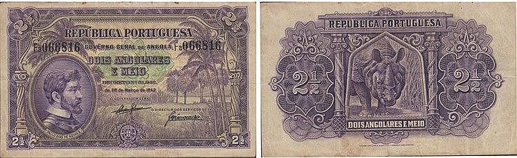 Paper Money - Angola 2 1/2 Angolares 1942
