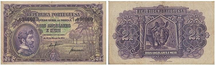 Paper Money - Angola 2-1/2 Angolares 1942