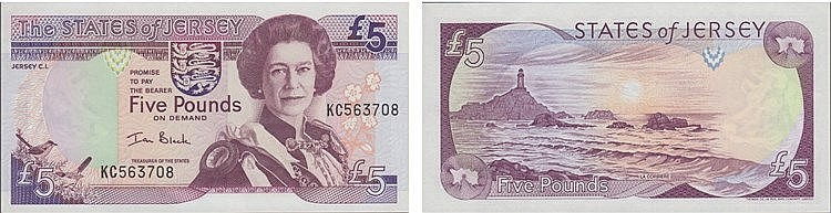 Paper Money - Jersey 5 Pounds ND (2000)
