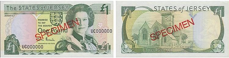 Paper Money - Jersey 1 Pound ND (2000) SPECIMEN