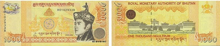 Paper Money - Bhutan 1 000 Ngultrum 2008