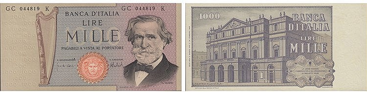 Paper Money - Italy 1 000 Lire 1975