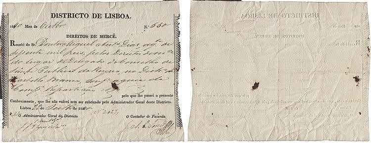 Documento - Direitos de Mercê 1840