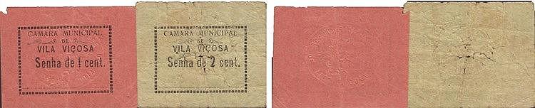 Cédula - Vila Viçosa 2 expl. 1, 2 Centavos N/D