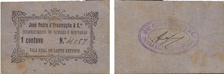 Cédula - Vila Real de Sto António 1 Centavo N/D
