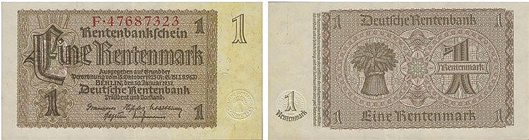 Paper Money - Germany Rentenmark 1937