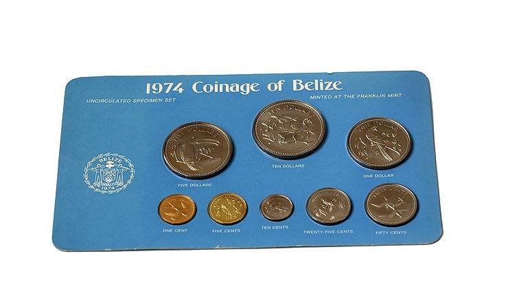 Belize - 8 expl., Serie BNC 1974