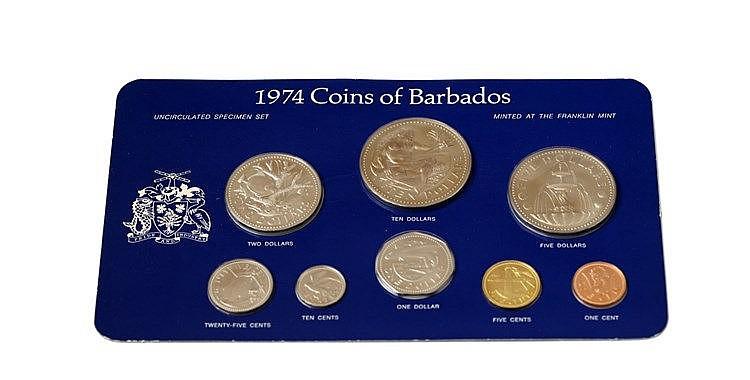 Barbados - 8 expl., Serie BNC 1974