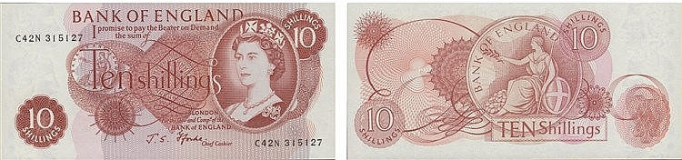 Paper Money - Great Britain 10 Shillings ND (1966-70)