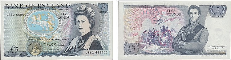 Paper Money - Great Britain 5 Pounds ND (1981-87)