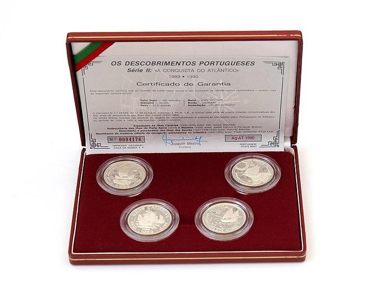Portugal - Republic - 4 moedas, II Série Descobrimentos 1990
