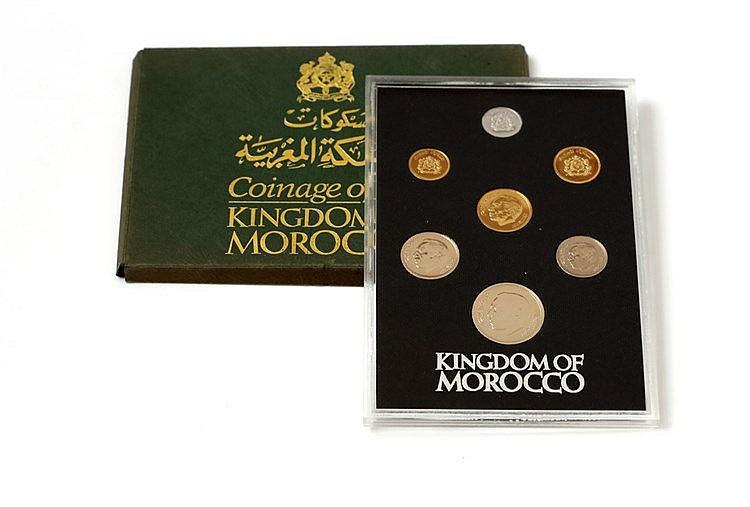 Marrocos - 7 expl., Serie BNC 1974-1975