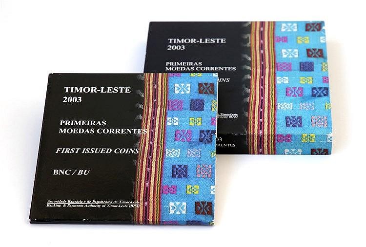 Timor - 10 coins 1, 5, 10, 25, 50 Centavos 2003