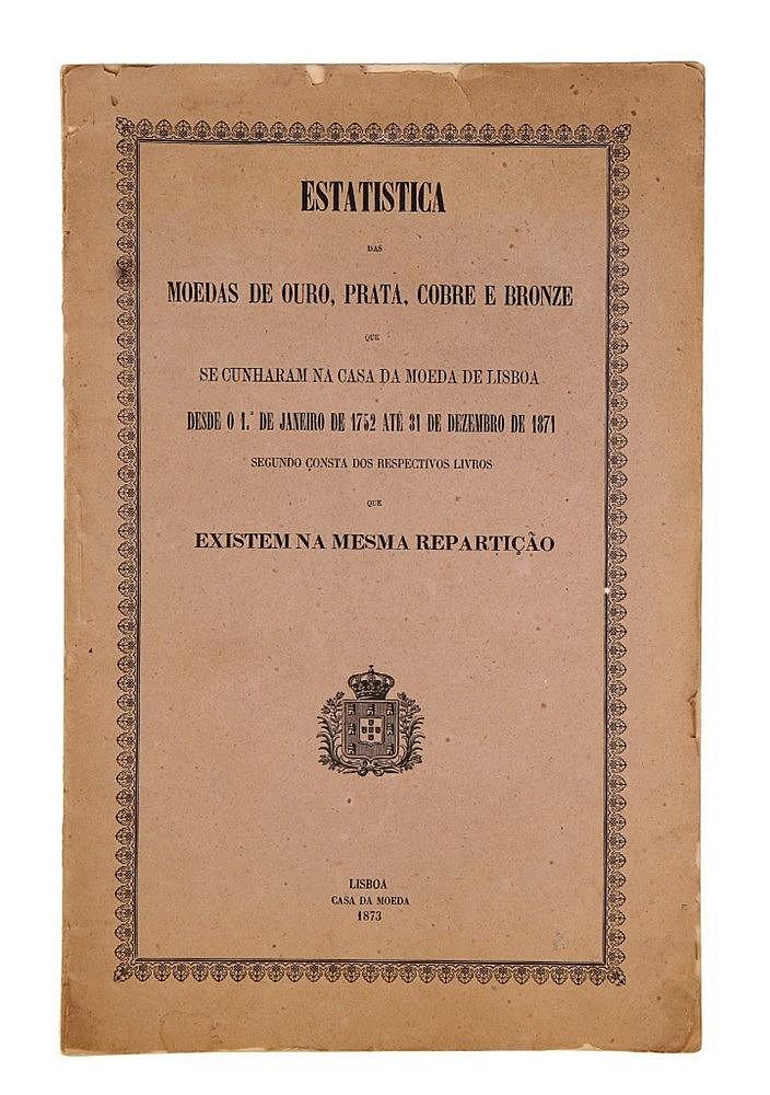 Book - Estatística das Moedas de Ouro, Prata, Cobre e Bronze