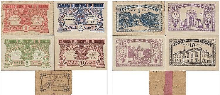 Cédula - Borba 5 expl. 1, 2, 5, 10 Centavos N/D-1921