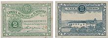 Cédula - Almodovar 2 Centavos 1921