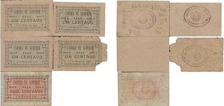 Cédula - Almeirim 5 expl. 1, 2 Centavos 1920