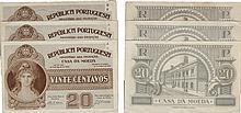 Cédula - Casa da Moeda 3 expl. 20 Centavos N/D