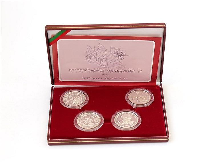 Portugal - Republic - 4 coins, XI Série Descobrimentos 2000