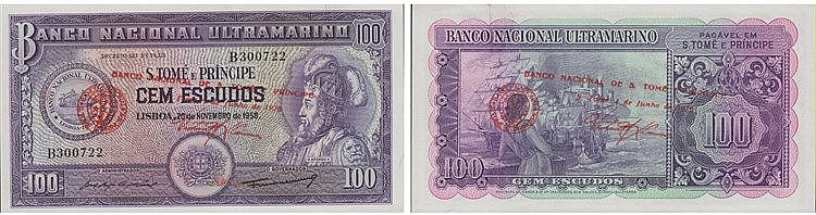 Paper Money - Saint Thomas and Prince - 100$00 1976
