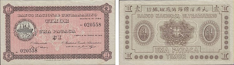 Paper Money - Timor Pataca 1945