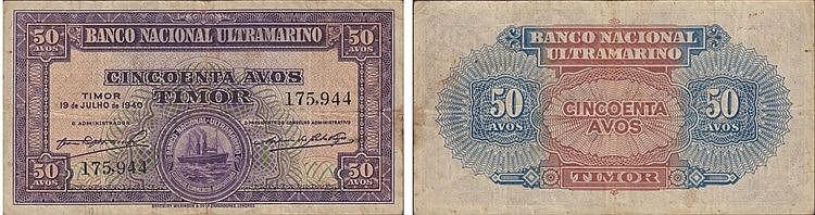 Nota - Timor 50 Avos 1940